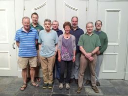 CEA band after ringing the first peal of 23 Spliced Surprise Major on maidland Europe